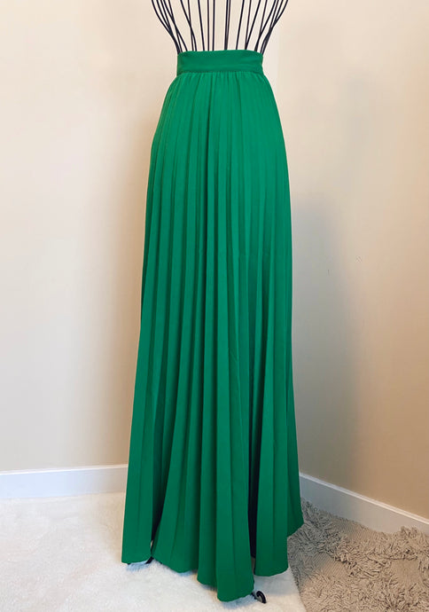 Emerald Green Pleated Skirt (L)