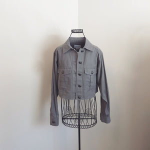 Club Monaco Crop Denim Jacket