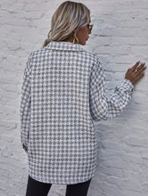 Load image into Gallery viewer, Shein Oversized Tweed Button-Up (S)