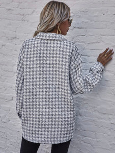 Shein Oversized Tweed Button-Up (S)