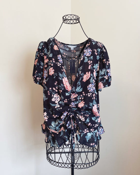 NWT American Eagle Cinched Floral Top