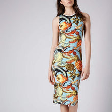 Load image into Gallery viewer, Topshop Tropical Fruit Dress