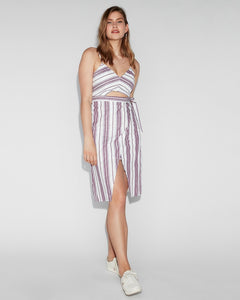 Express Linen Cut-Out Dress