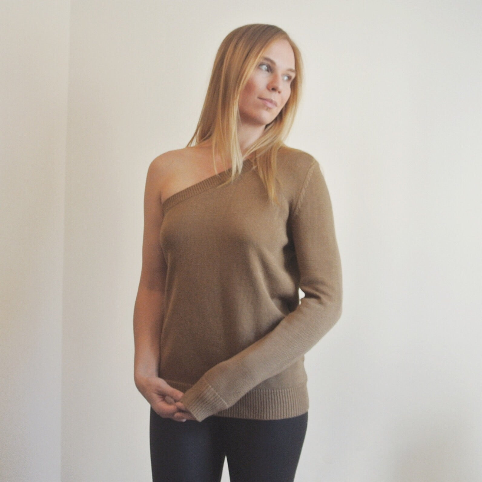 Michael Kors One-Shoulder Sweater