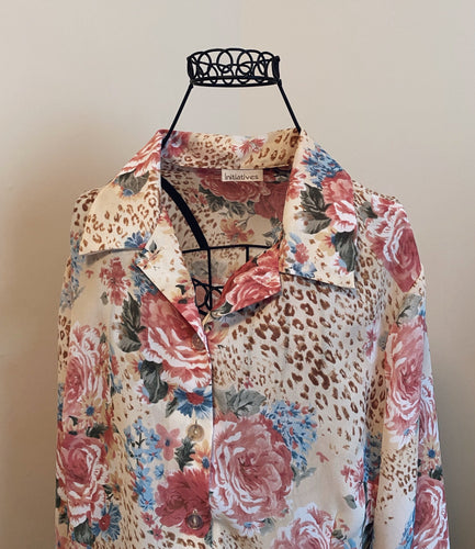 Vintage Initiatives Bell Sleeve Blouse (L)