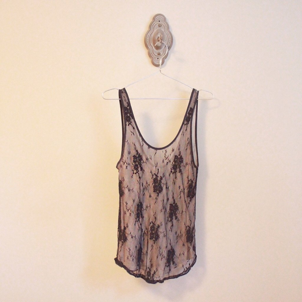 Wilfred Black Lace Tank Top