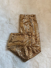 Load image into Gallery viewer, EQ Clothing Gold Sequin Legging