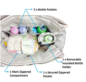 The Pretty Preppy Diaper Tote - Kiko Diaper Bags