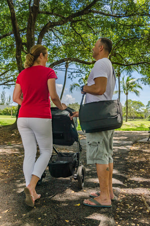 The Mr. Sleek Messenger Diaper Bag - Kiko Diaper Bags