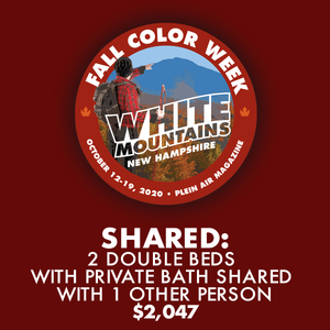 2020 Fall Color Week - Shared: 2 Double Beds with Private Bath Shared with 1 Other Person
