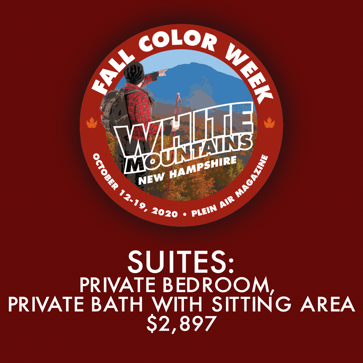 2020 Fall Color Week - Suites: Private Bedroom, Private Bath with Sitting Area - FCW19 Discount