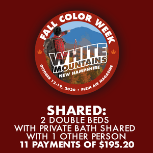 2020 Fall Color Week - Shared: 2 Double Beds with Private Bath Shared with 1 Other Person *** 11 PAYMENT PLAN ***