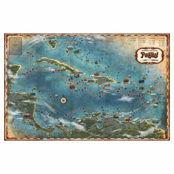 Extraordinary Adventures: Pirates: Game Map
