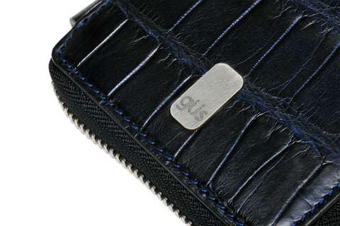 Güs Alligator Large Zippered Folio Wallet