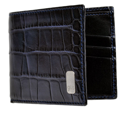 Front view of the Güs Alligator Billfold Wallet for men