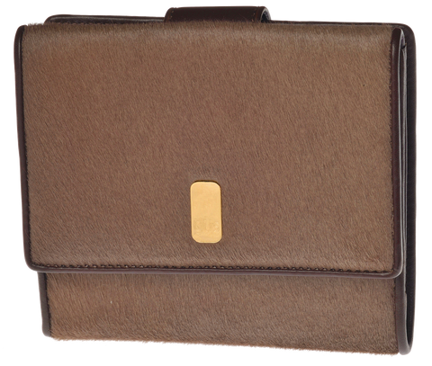 Gus Kimberly women's wallet in Cappuccino Pony Hair - Front view