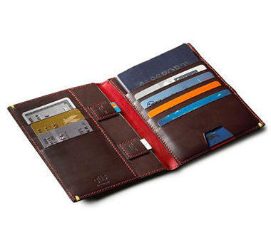 The Passport Folio Inside view with card slots