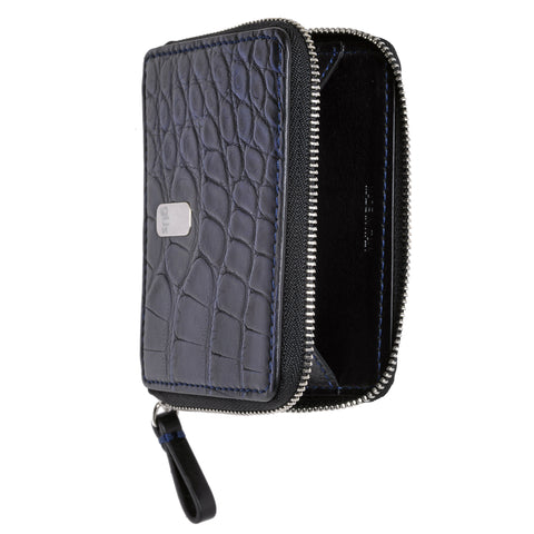 "Open view of the Güs Alligator ""Piccolo Zip"" Case for men and women"