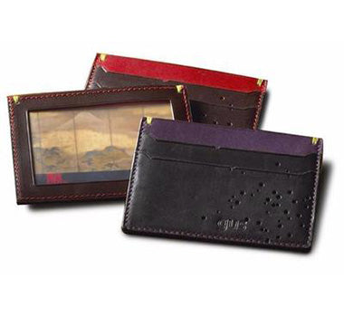 The Güs Card Case featuring the Spitshot perforation in 3 color options