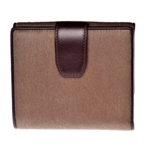 Gus Kimberly women's wallet in Cappuccino Pony Hair - Rear View