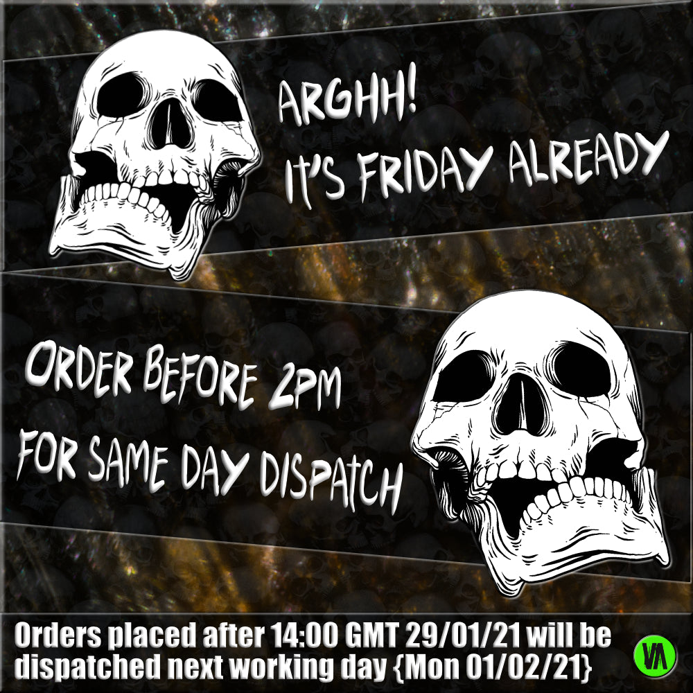 ORDER BEFORE 2PM FOR SAME DAY DISPATCH