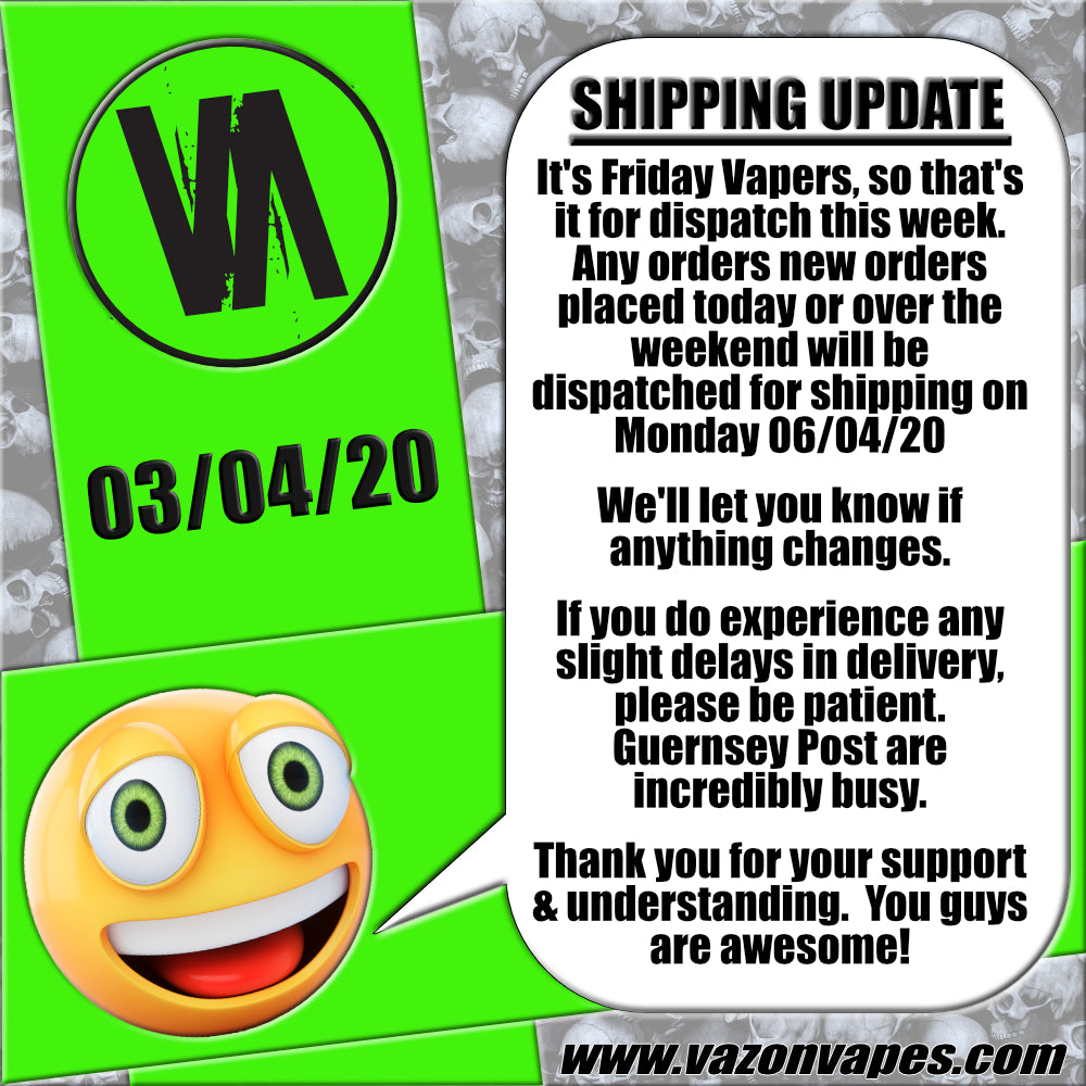 SHIPPING UPDATE 03/04/20