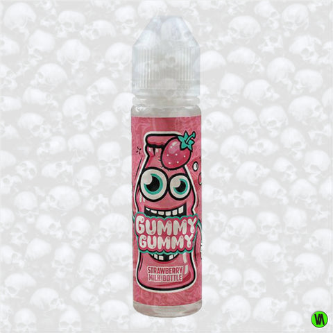 Gummy Gummy Strawberry Milk Bottle 0mg 50ml Shortfill