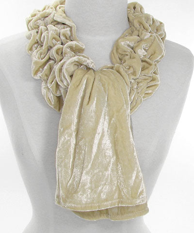 Square-Edged Scrunchy Scarf