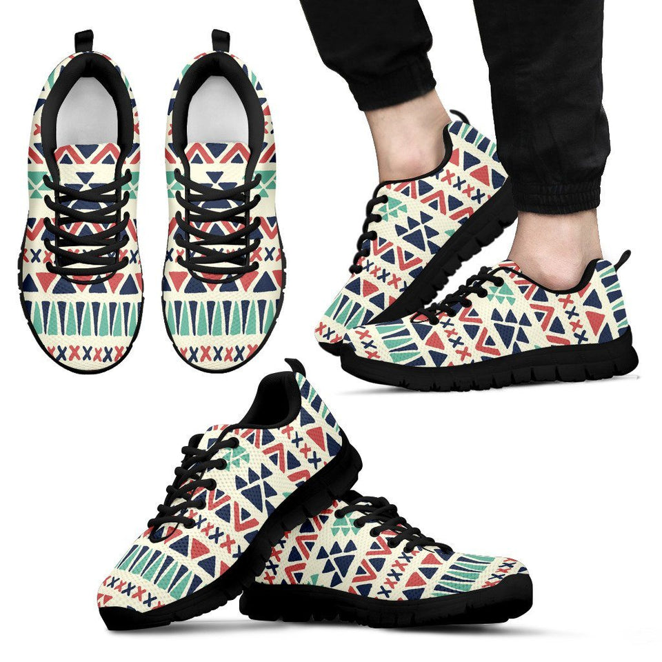 Native American Pattern Men's Running Shoes Design NT091 - Men's Sneakers - Black - Native American 1 / US5 (EU38) - Ineffable Shop