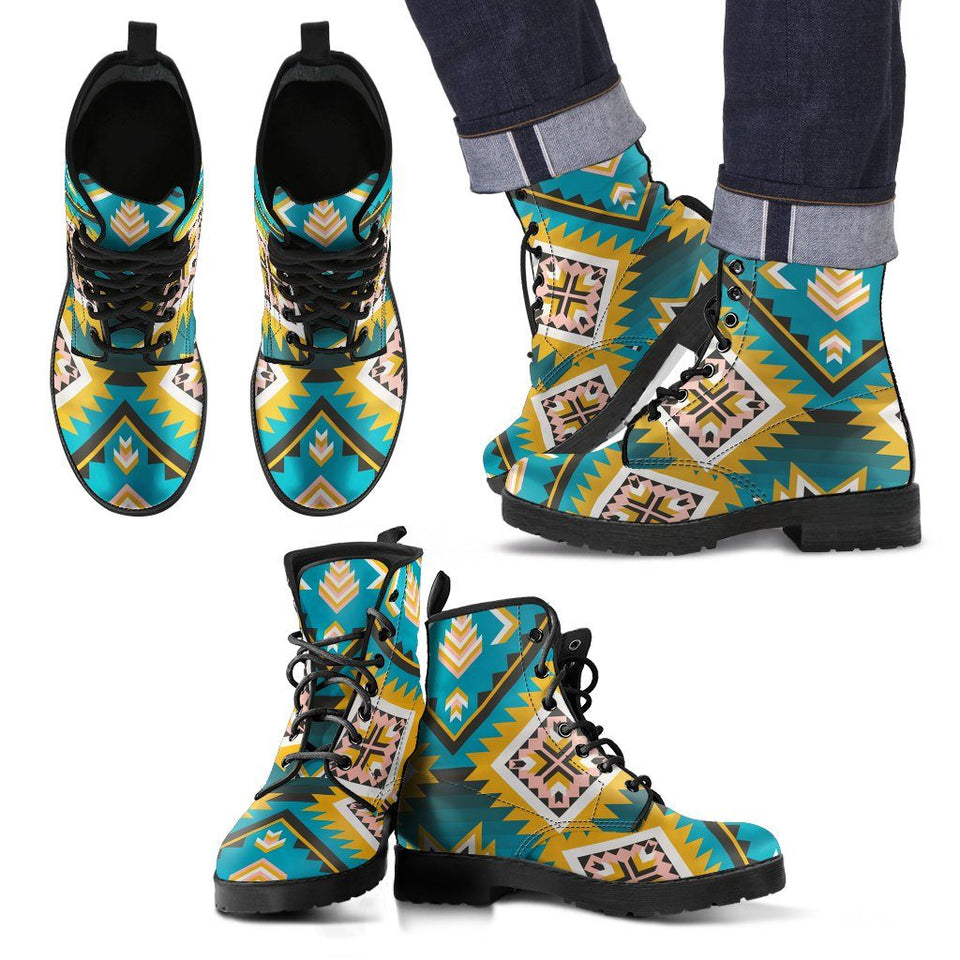 Native American Leather Boots Design NT009 - Ineffable Shop