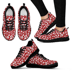 Happy Christmas Women's Costume Shoes - Women's Sneakers - Black - Christmas 1 / US5 (EU35) - Ineffable Shop