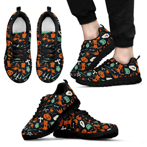 Happy Halloween Men's Running Shoes HLW018 - Men's Sneakers - Black - Halloween 1 / US5 (EU38) - Ineffable Shop
