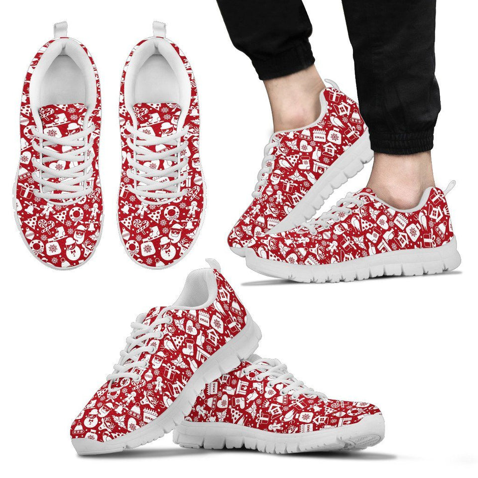 Happy Christmas Men's Costume Shoes - Men's Sneakers - White - Christmas 2 / US5 (EU38) - Ineffable Shop