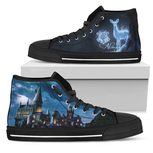 Harry Potter Hogwarts School Men's High Top Shoe HP0127 - Mens High Top - Black - Harry Potter 1 / US5 (EU38) - Ineffable Shop