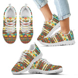 Native American Indian Pattern Kid's Shoes NT086 - Kid's Sneakers - White - Native American 2 / 11 CHILD (EU28) - Ineffable Shop