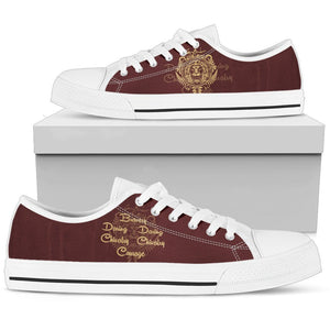 Harry Potter 4 House Men's Low Top Canvas Shoe HP0053 - Gryffindor - White / US5 (EU38) - Ineffable Shop