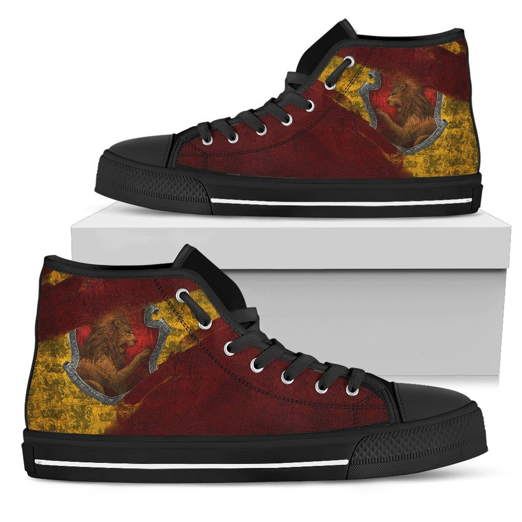 Harry Potter 4 House Men's High Top HP0123 - Gryffindor - Black / US5 (EU38) - Ineffable Shop