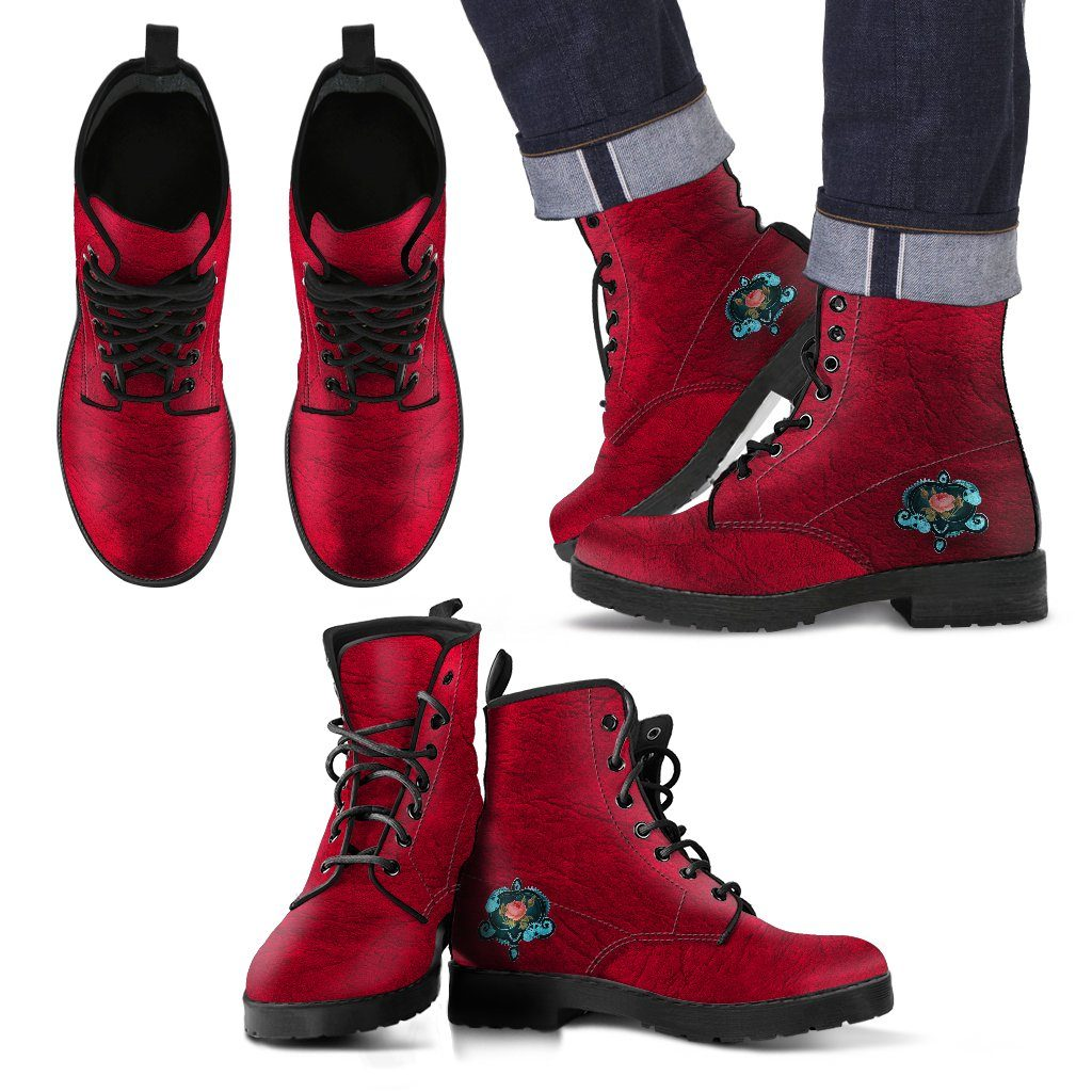 Steampunk Rose Men's Leather Boots - - Ineffable Shop