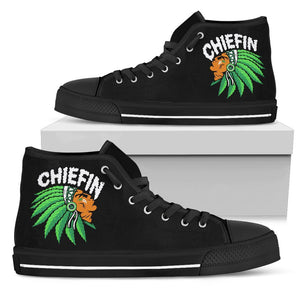 Chiefin Women's High Top Shoe - Black - Black Sole / US5.5 (EU36) - Ineffable Shop