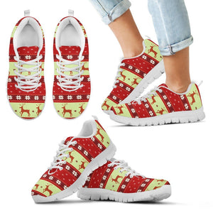Christmas Pattern Kid's Running Shoes - Kid's Sneakers - White - Christmas 2 / 11 CHILD (EU28) - Ineffable Shop