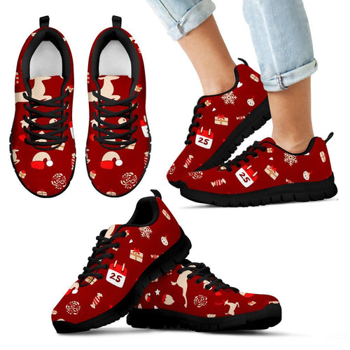 Happy Christmas Kid's Sneakers - Kid's Sneakers - Black - Christmas 1 / 11 CHILD (EU28) - Ineffable Shop