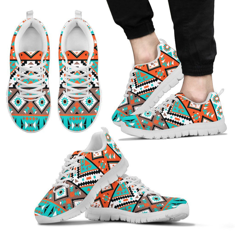 Native American Indian Pattern Men's Shoes NT088 - Men's Sneakers - White - Native American 2 / US5 (EU38) - Ineffable Shop
