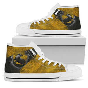 Harry Potter 4 House Women's High Top HP0122 - Hufflepuff - White / US5.5 (EU36) - Ineffable Shop