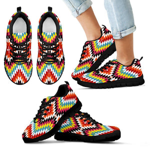 Native American Kid's Sneaker Design NT062 - Kid's Sneakers - Black - Native 1 / 11 CHILD (EU28) - Ineffable Shop