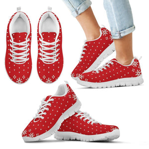 Christmas Red Pattern Kid's Running Shoes - Kid's Sneakers - White - Christmas 2 / 11 CHILD (EU28) - Ineffable Shop