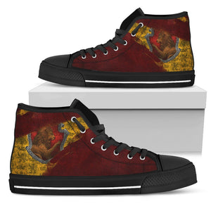 Harry Potter 4 House Women's High Top HP0122 - Gryffindor - Black / US5.5 (EU36) - Ineffable Shop