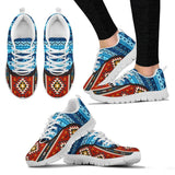 Native American Pattern Women's Costume Shoes NT095 - Women's Sneakers - White - Native American 2 / US5 (EU35) - Ineffable Shop