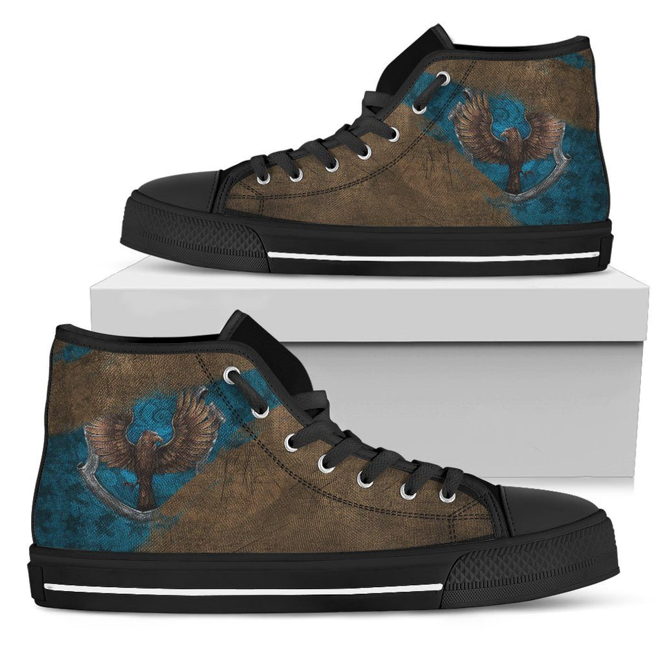 Harry Potter 4 House Women's High Top HP0122 - Ravenclaw - Black / US5.5 (EU36) - Ineffable Shop