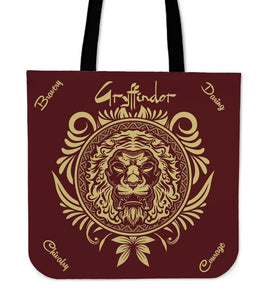 Harry Potter 4 House Tote Bag HP0057 - Gryffindor - Ineffable Shop