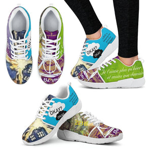 Harry Potter - Doctor Who Women's Athletic Sneakers HP0084 - Women's Athletic Sneakers - White - 2 / US5 (EU35) - Ineffable Shop